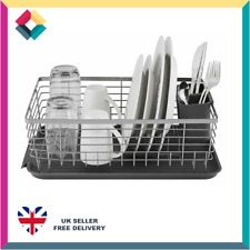 Tower T847001 Compact Dish Rack With Removable Cutlery Drainer Grey