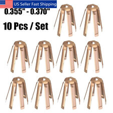 10 Pcs Golf Brass Adaptor Shims Accessories For Iron Steel Shaft 0.355''-0.370''