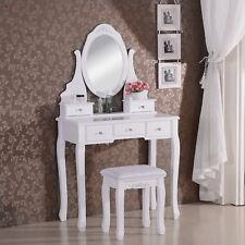 Coiffeuse table de maquillage avec miroir et tabouret 80 x 141,5 x 40cm MB6022cm