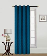 Elegant Turquoise JKS1626 Faux Curtain Grommet Embroidery crush panel Window
