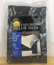 Today's Home Tailored Pillow Sham STANDARD COTTON - NEW - Black & White Speckled
