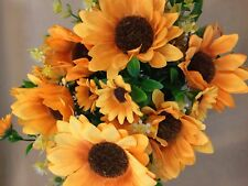 Artificial Silk Imitation Flowers 2 X Sunflower Bunches