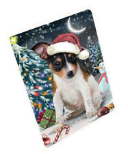 Holly Jolly Christmas Rat-Terriers Dog Tempered Cutting Board Large Db591