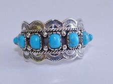 GENUINE!! Arizona Turquoise Multi-cut Handmade Ring Solid Sterling Silver 925!