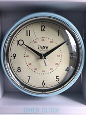 * NEW RETRO VINTAGE DUCK EGG BLUE wall clock kitchen office home