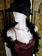 TO THE MAX 1920s Flapper Style Chocolate Brown Silk Dress Chiffon Detail SzS