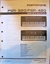 Yamaha PSR-320 PSR-420 Portatone Keyboard Original Service Manual Booklet