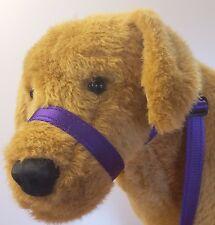 3 Meter 20mm CUSHION Figure of Eight 8 halter headcollar,lead,slip lead Purple .