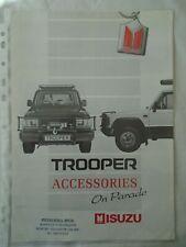 Isuzu Trooper Accessories  brochure Jul 1987