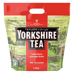 Yorkshire Tea Bags 1.5kg Large Catering Pack (480 tea bags)