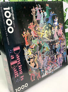 Vintage Springbok Jigsaw Puzzle Dancing is a Ball 1000 Pieces 100% Complete 80's