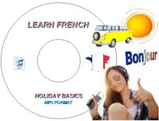 LEARN FRENCH LANGUAGE ON MP3 AUDIO CD USE IN CAR / PC / MP3 PLAYER