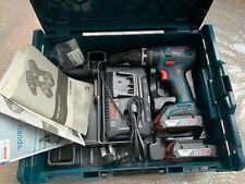 BOSCH GSB 18 V-Li Senza filo Trapano Inc 2 x 2.0Ah le batterie L-Boxx KIT
