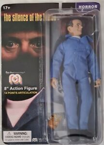 """The Silence OF The Lambs Hannibal Lector Mego Monsters Marty Abrams 8"""" Figure"""