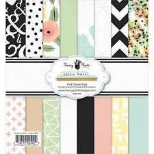 Office Suite 6x6 Paper Pad 2502 Chevrons Dots Floral Flowers Card Making 32 Shts