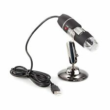 USB 8 LED 2MP 50x-500X microscopio digitale Videocamera endoscopio HK