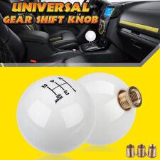 Universal 5-Speed Round Ball Gear Shift Knob Short Shifter Lever M10X1.5 White