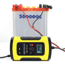 12V 5A LCD Car Motor Pulse Repair Battery Charger Lead Acid Storage Japan Plug