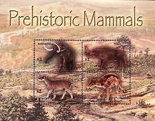 ANTIGUA DINOSAUR STAMP SHEET 4V 2005 MNH PREHISTORIC MAMMALS ANIMALS MAMMOTH