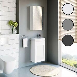 Planetmöbel Badmöbel Set 40cm Waschtischunterschrank Gäste WC Keramikwaschbecken