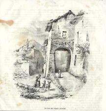 Stampa antica BOSISIO PARINI Casa di Giuseppe Parini 1840 Old antique print