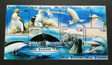1996 New Zealand Wildlife - Birds Heron Whale Dolphin Seal Penguin 6v Stamps MNH