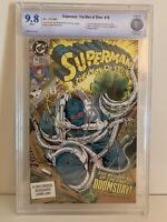 Superman:The Man of Steel #18 CBCS 9.8 White Pages 1st full Doomsday DC Comics