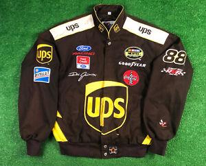 Vtg NASCAR UPS Embroidered Jacket DALE JARRETT JH DESIGNS Size M