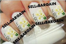 FLASH SALE》Bridal I DO Wedding Calla Lilies Lily FLOWERS《Tattoo Nail Art Decals