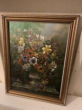 antique oil painting flowers