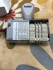Trodat 1117 Dial A Phrase Date Stamp American Date Format New In Box