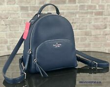 Kate Spade Jackson Navy Pebbled Leather Medium Backpack Wkru5946 Ret FS