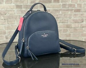 KATE SPADE NEW YORK JACKSON MD PEBBLED LEATHER BACKPACK SHOULDER BAG $359 Navy