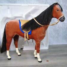 American Girl Doll FELICITY LG HORSE PENNY Saddle Blue Pad Stirrups Reins BOX!