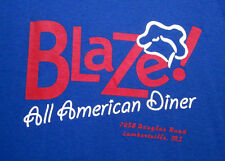 BLAZE youth med T shirt All American Diner tee Michigan nostalgia Lambertville