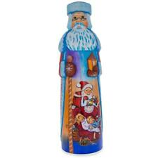 Christmas Eve Hand Carved Solid Wooden Santa Figurine 11 Inches