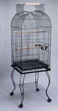 "65"" Rolling Stand Medium Dome Bird Cage Open Top Quaker Green-Cheek Parrot"