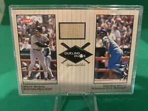 2002 Greats of the Game Dueling Duos Wade Boggs/George Brett Game-Used Bat Relic