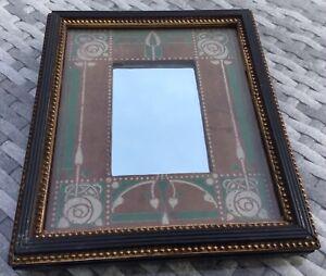 Arts & crafts Scottish rose Glasgow school themed art nouveau small mirror