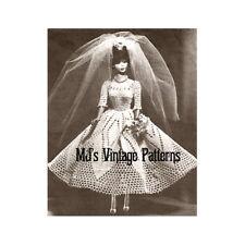 Barbie Wedding Dress ~ a Vintage Crochet Pattern