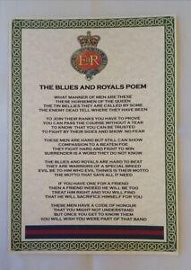 Blues and Royals Poem