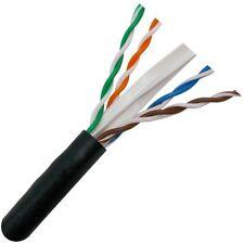 CAT6 1000FT 23 AWG 550 MHZ CABLE UTP WIRE SOLID ETHERNET BLACK BULK RJ45 LAN BOX