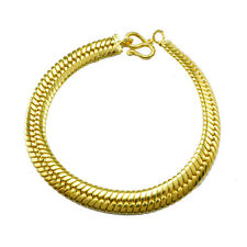 GOLD PLATED BRACELET MAN OR WOMAN 7 INCHES 24K THICK 6M YELLOW GOLD GOOD EXPORT