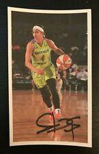 SKYLER DIGGINS-SMITH WNBA Dallas Wings Autographed Custom 3x5 Index Card