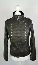 L549 Barbour Ladies Distressed Brigade Military Olive Green Wax Jacket, UK 10