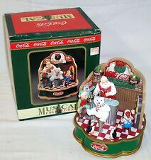1994 COCA COLA MUSICAL COLLECTION - ANIMATED LIGHTED CHRISTMAS SANTA DISPLAY