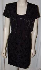 JR Nites Little Black Dress Floral 2 Pc Gown Jacket Petite Caliendo S Sleeveless