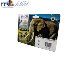 6x TINTE PATRONEN EPSON XP750 XP760 XP850 XP860- T2428  Elefant SET NEU