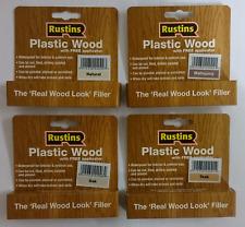 Rustins Plastic Wood Filler with Free Applicator Teak Oak Mahogany Natural Pine