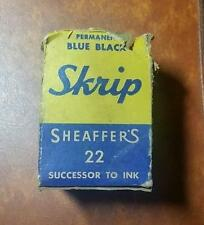 Collectible Vintage - Sheaffer's Skrip Writing Fluid Ink #22 w Box-empty